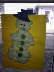 Do you want to build a Snowman...a cotton ball snowman?