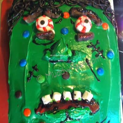 Frankenstein Monster Cake