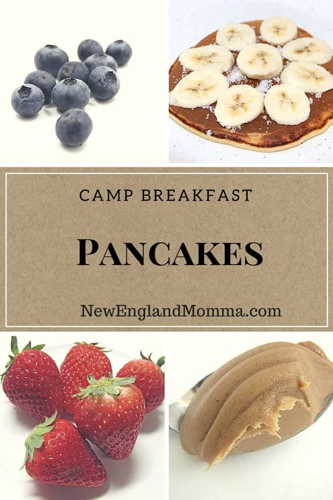 Breakfast is even more fun when camping when you have pancakes with an assortment of mix-ins!