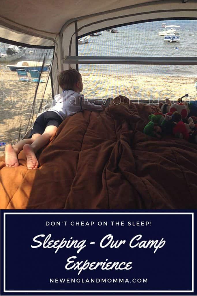 Sleeping - Camping Style