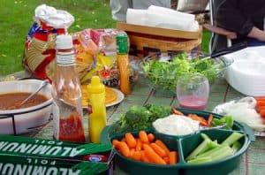 Table with Veggies