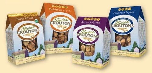 My favorite croutons - Olivia's Crouton made from New Haven, VT.