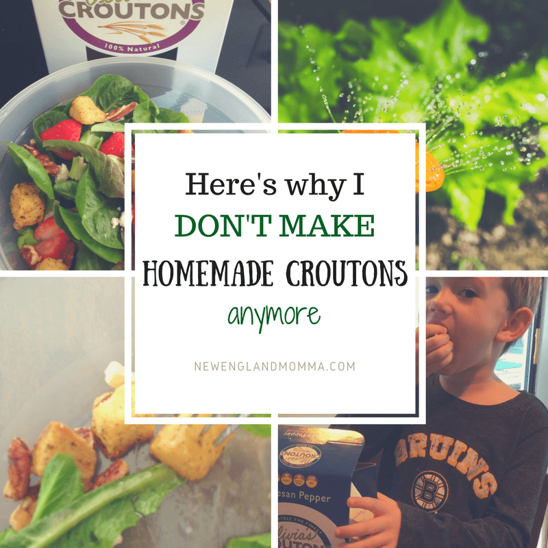 No need to make homemade croutons now that Olivia's Croutons does that for me. No GMOs, No Sugars, No preservatives, low salt