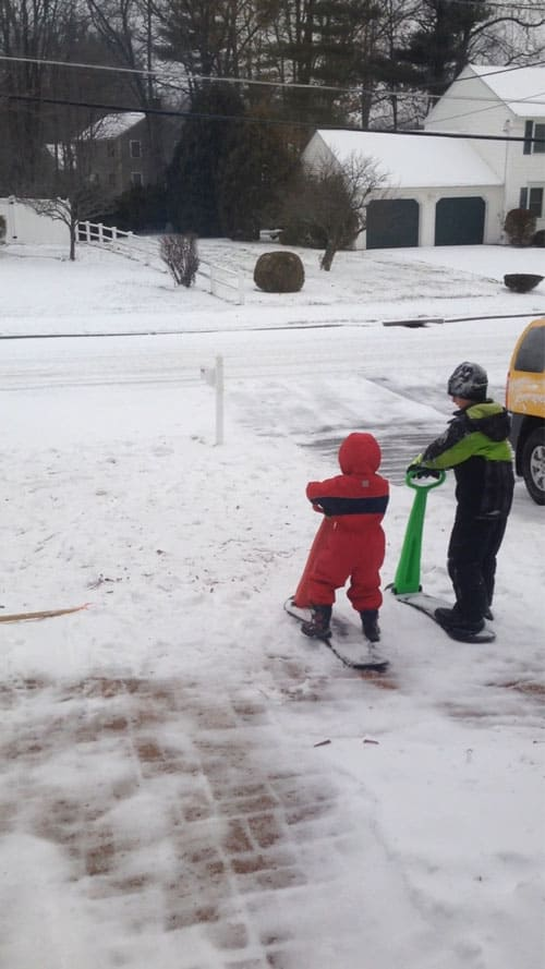 Ski SKooter - Got Kids but not much snow? You need this sled!