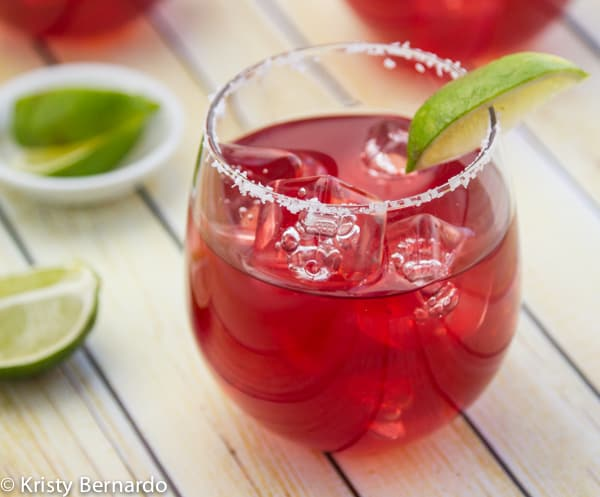 A fun drink anytime of the year Pomegranate Margarita - make it by the pitcher!