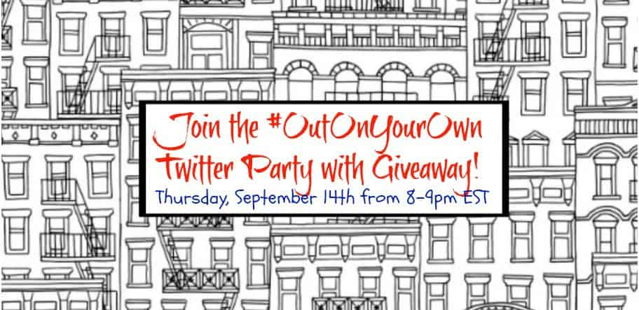 Join the Twitter party #OutOnYourOwn this Thursday, September 14th from 8-9pm EST.
