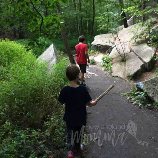 A fun day trip to climb and explore over rocks: Purgatory Chasm in Sutton, MA