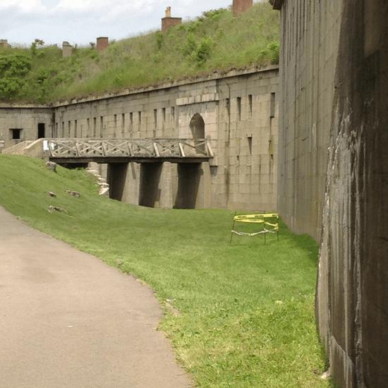 Bridge into Fort Warren - George's Island