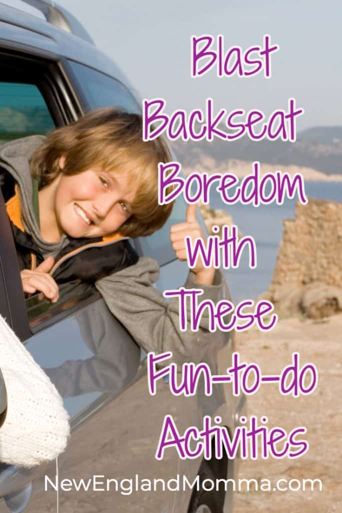 Blast Boredom with these fun to do in the car activities on your next road trip!