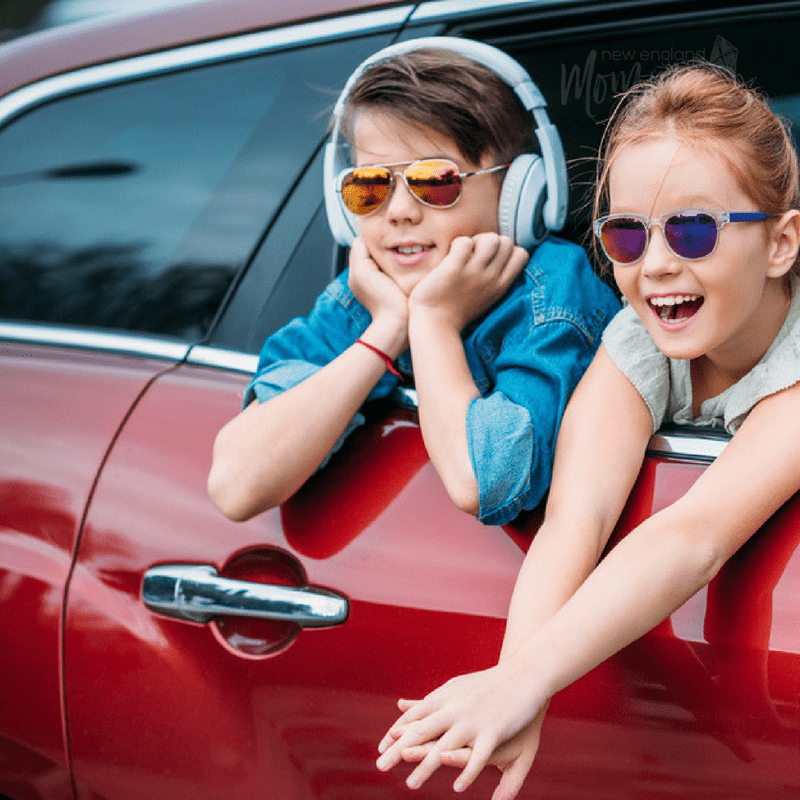 Road Trip with smiling Kids while they enjoy their activities
