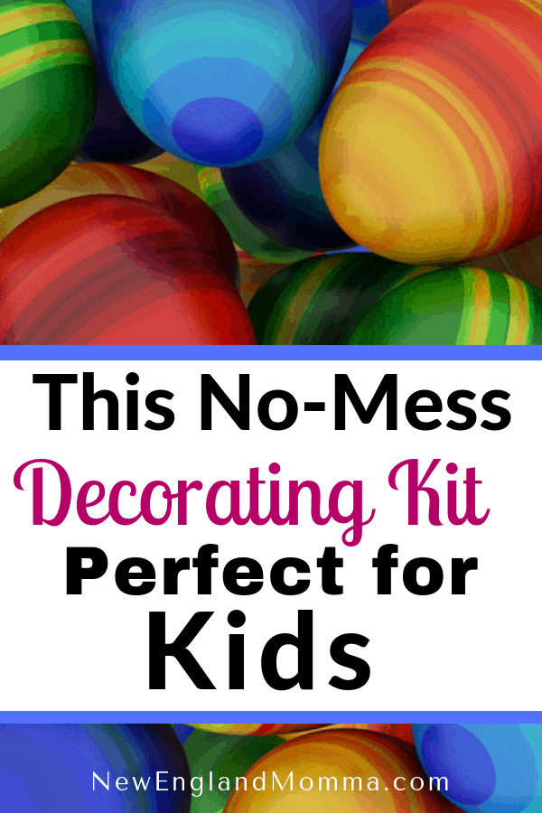 The Easter tradition of dying eggs can get messy! Then I came across this decorating kit! #eastereggs #eggdecoratingkit
