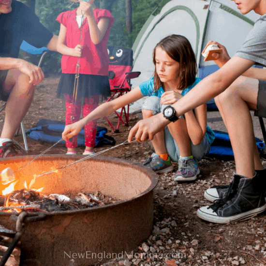 Camping can be a great opportunity to have some fun outdoors together. It can be simple with the basics or elaborate with lots of items. Either way, you'll make some great memories!