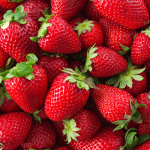 bunch of fresh picked strawberries