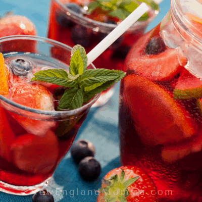Summer Sangria Drinks are a great way to relax on the front porch or by a campfire. These summer cocktails are versatile and fun to have on a warm evening.