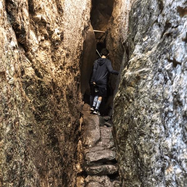 lemon squeeze polar caves entrance