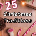 Christmas traditions with candy canes and pine