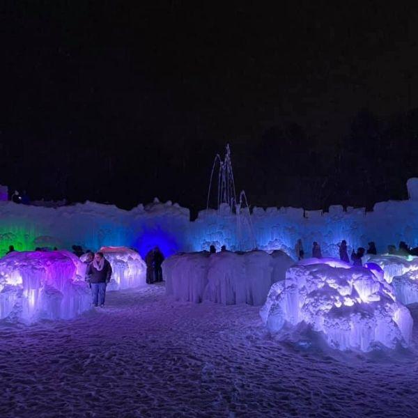 ice castles in purple