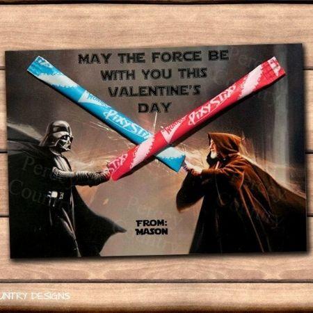 Star Wars valentines with pixie sticks