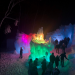 Ice castles are made of ice and fun to walk through at night with lots of colors
